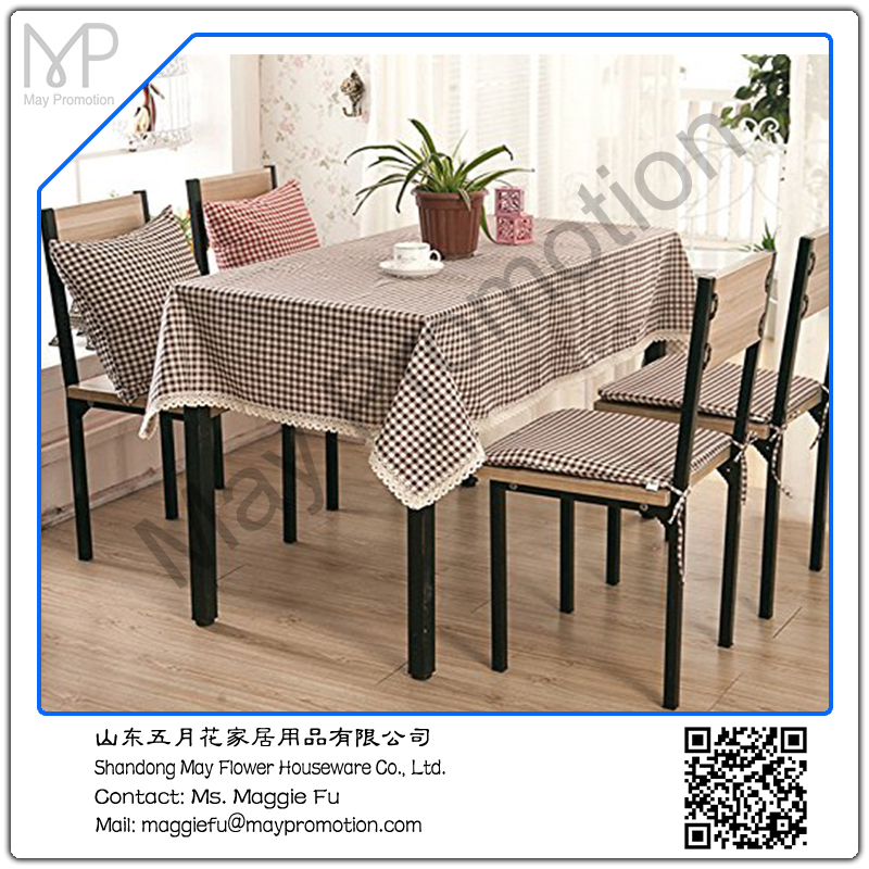 2017 Europe Grids Cotton Lace Hotel Home Kitchen Table Cloth Table Linen